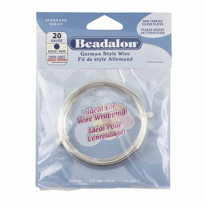 Beadalon® German-Style Silver-Plated 20-Ga. Round Wire, 6-meter Coil