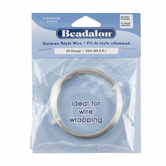 Beadalon® German-Style Silver-Plated 26-Ga. Round Wire, 20-meter Coil