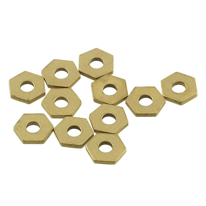 "Brass Hexagon Rivet Accent for 1/16"" Crafted Findings Riveting Tool"