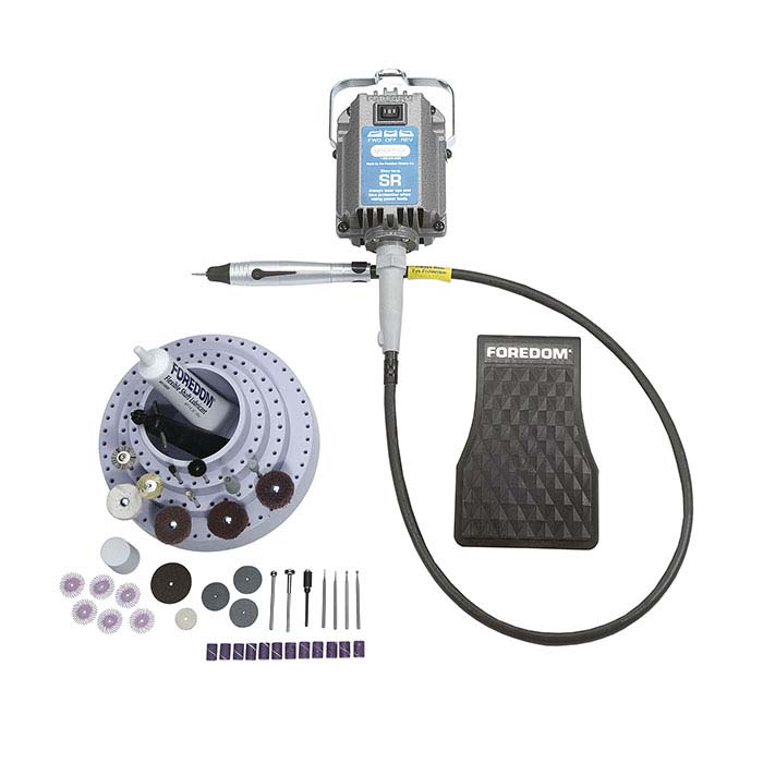 Foredom SR Motor with H.20 Quick-Change Handpiece Flex Shaft Systems
