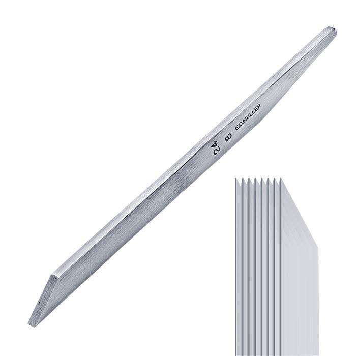 E.C. Muller Carbon Steel Straight Line Graver #24, 8-Line