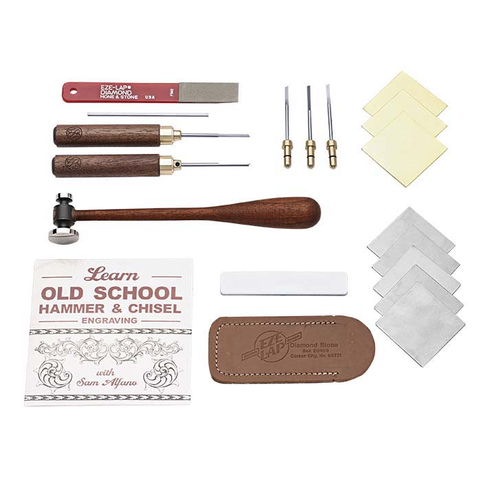 Sam Alfano Hammer and Chisel Engraving Kit with Old School Engraving DVD