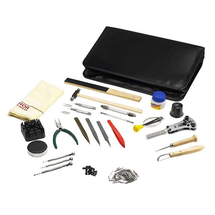 Complete 26-Piece Watch Repair Tool Kit