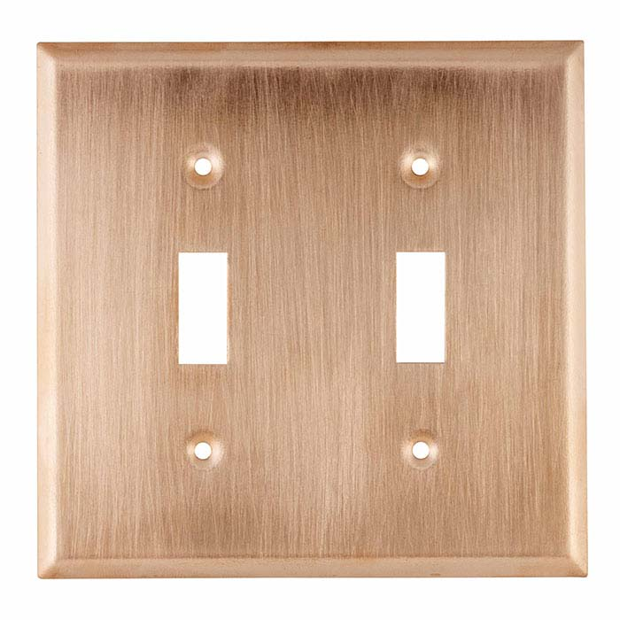 Copper Double Toggle Switch Plate