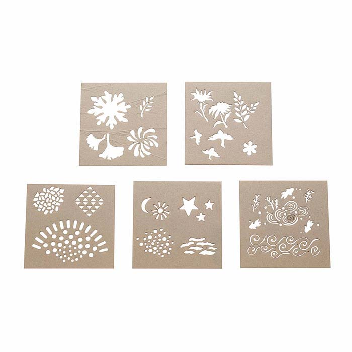 "Acrylic ""Echoes"" Design Stencil Set for Enameling"
