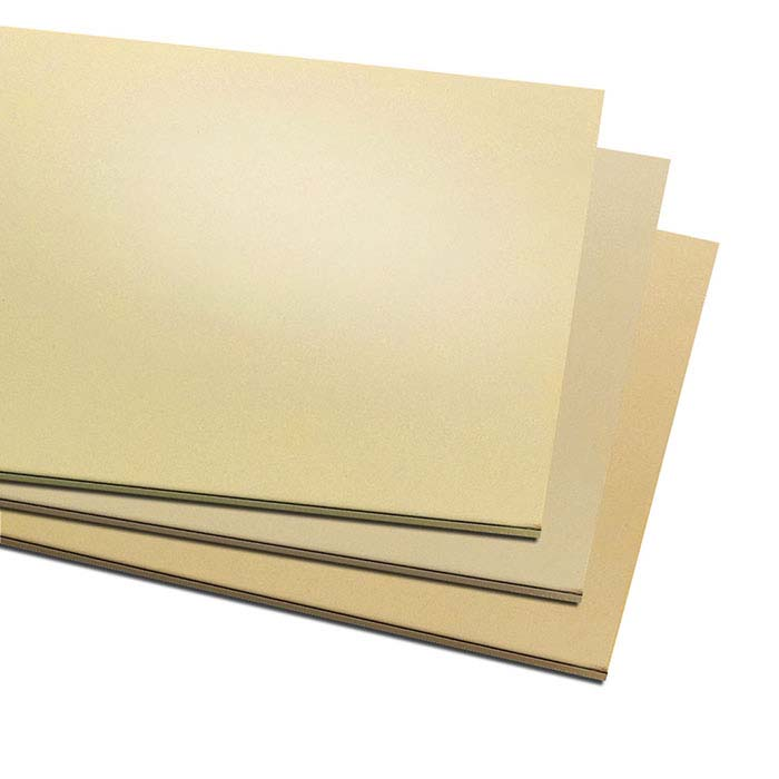 "Jeweler's Brass 6"" x 12"" Sheet, 18-Ga., Dead Soft"