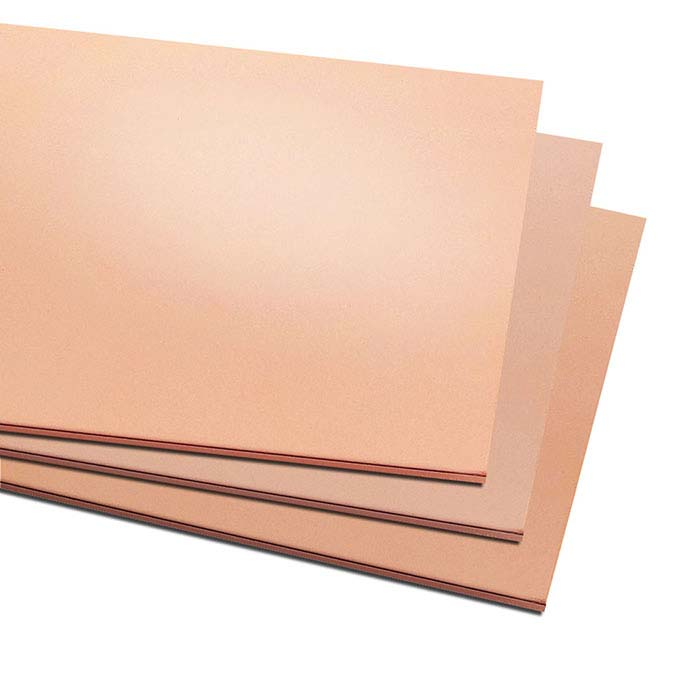 "Copper 6"" x 12"" Sheet, 20-Ga., Dead-Soft"