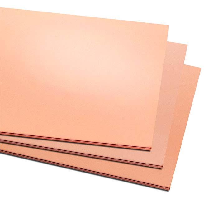 "Copper 6"" x 12"" Sheet, 22-Ga., Dead-Soft"