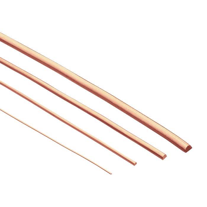 Copper Half-Round Wire, 1-Lb. Spool, 18-Ga., Dead-Soft