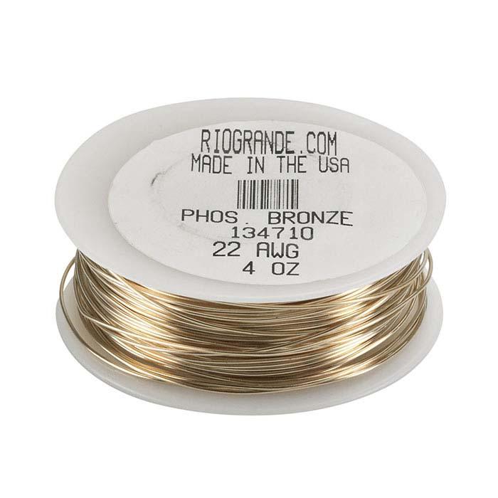 Bronze Round Wire, 4-Oz. Spool, Dead-Soft