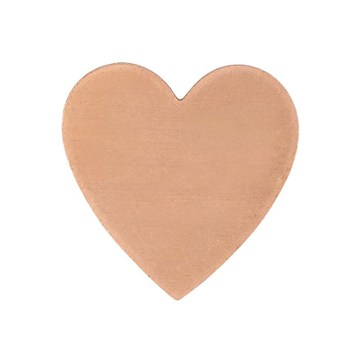 Copper 17.5mm Heart Stamping, 18-Ga.