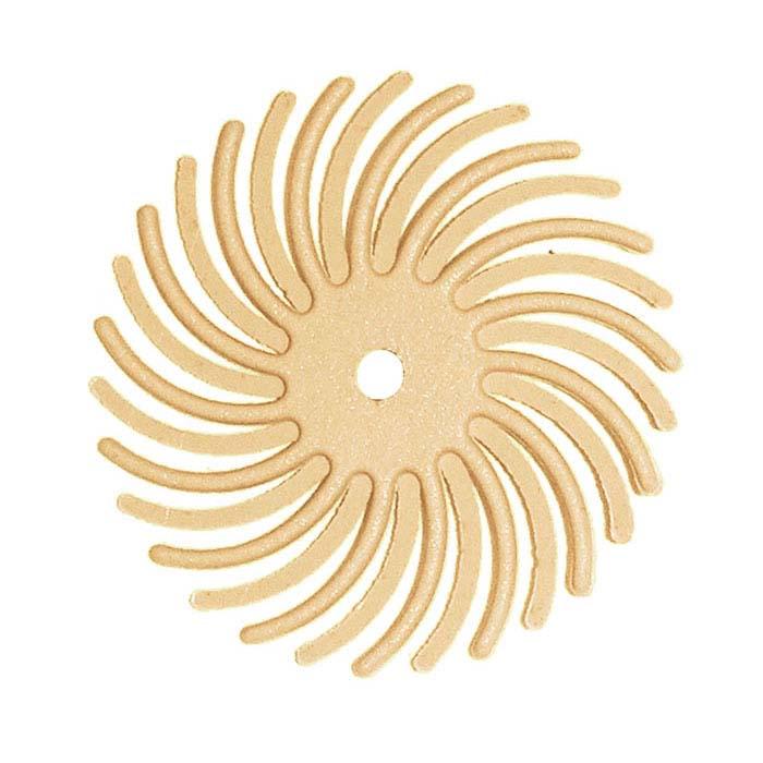 "Dedeco® Sunburst® 7/8"" Radial Disc, 6-Micron, Peach"