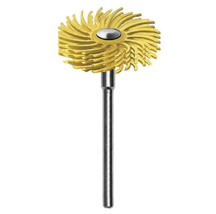 "Dedeco® Sunburst® 7/8"" Radial 4-Ply Mounted Discs, 80-Grit, Yellow"