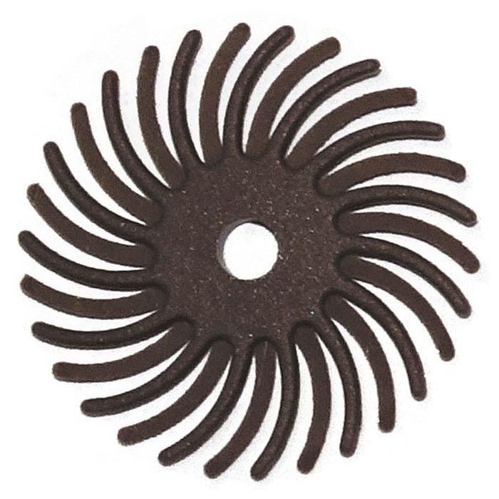"""Dedeco® Sunburst® 1"""" Radial Disc, 36-Grit, Brown"""