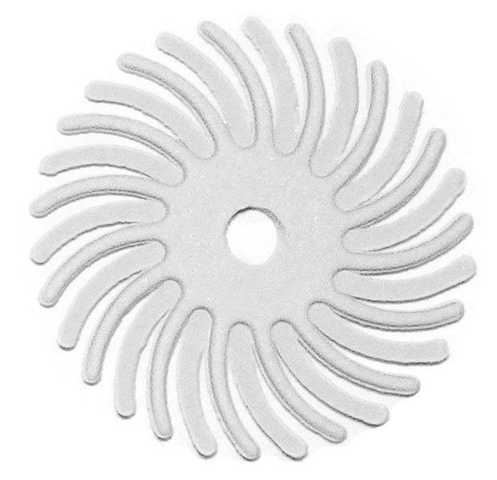 "Dedeco® Sunburst® 1"" Radial Disc, 120-Grit, White"