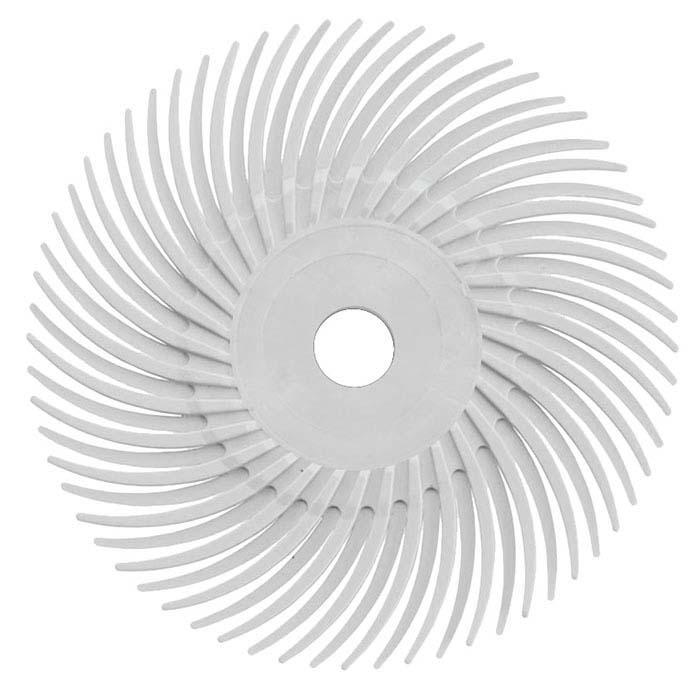 "Dedeco® Sunburst® 2"" Radial Disc, 120-Grit, White"