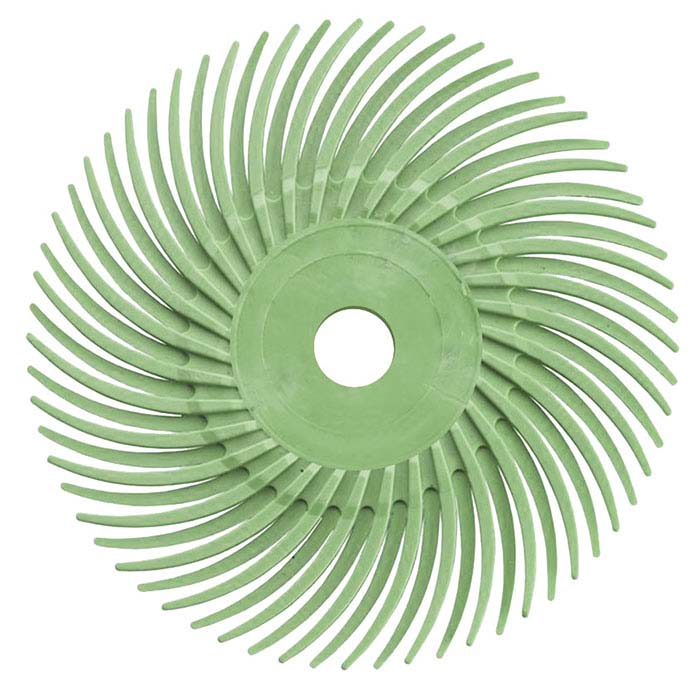 "Dedeco® Sunburst® 2"" Radial Disc, 1-Micron, Light Green"