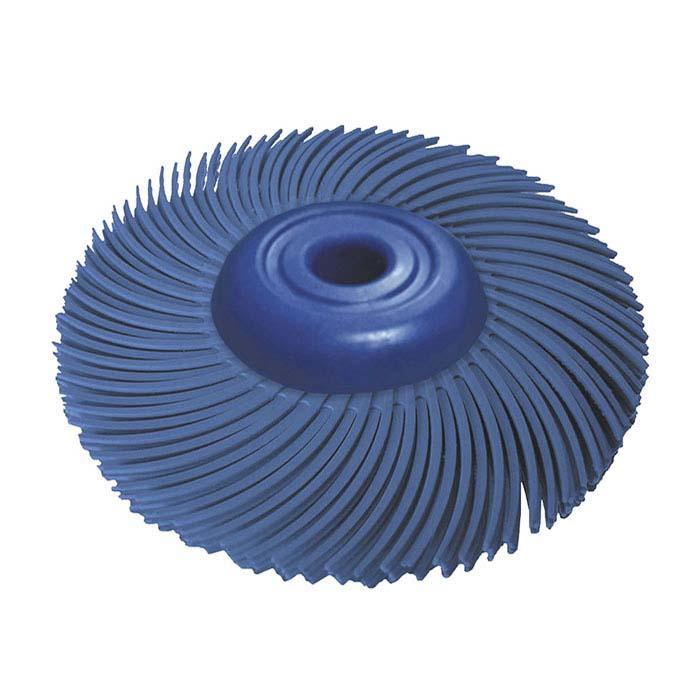 "Dedeco® Sunburst® 2"" 3-Ply Radial Bristle Disc, 400-Grit, Blue"