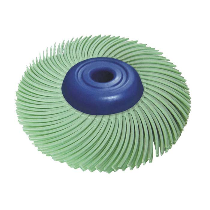 "Dedeco® Sunburst® 2"" 3-Ply Radial Bristle Disc, 1-Micron, Light Green"