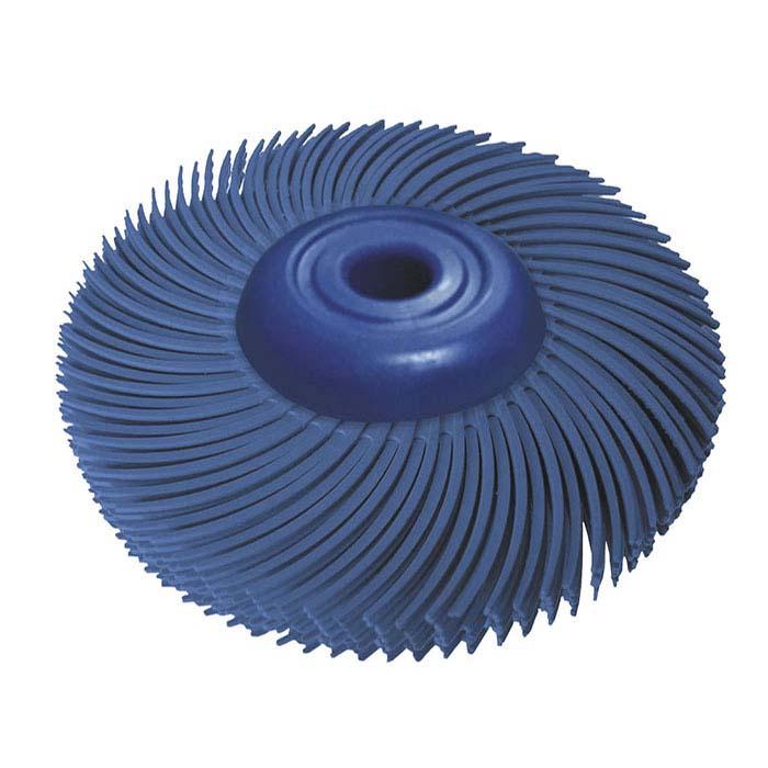 "Dedeco® Sunburst® 2"" 6-Ply Radial Bristle Disc, 400-Grit, Blue"