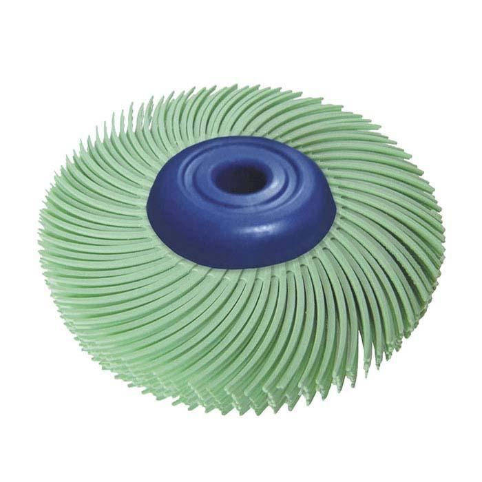 "Dedeco® Sunburst® 2"" 6-Ply Radial Bristle Disc, 1-Micron, Light Green"