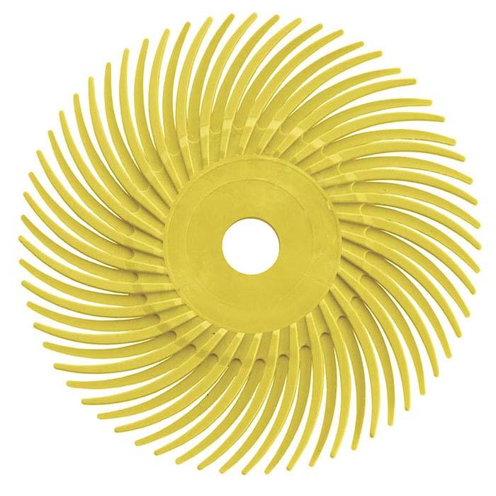 "Dedeco® Sunburst® 3"" Radial Disc, 80-Grit, Yellow"