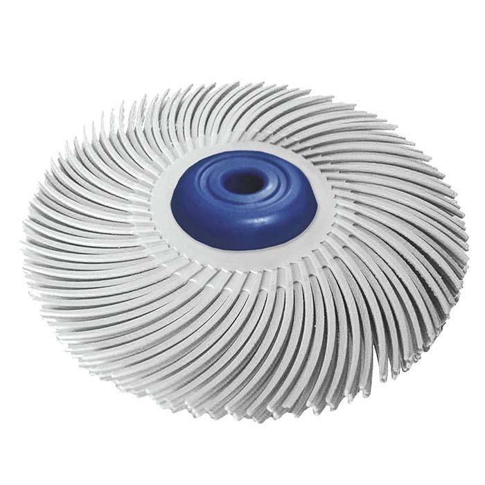 """Dedeco® Sunburst® 3"""" 3-Ply Radial Bristle Disc, 120-Grit, White"""