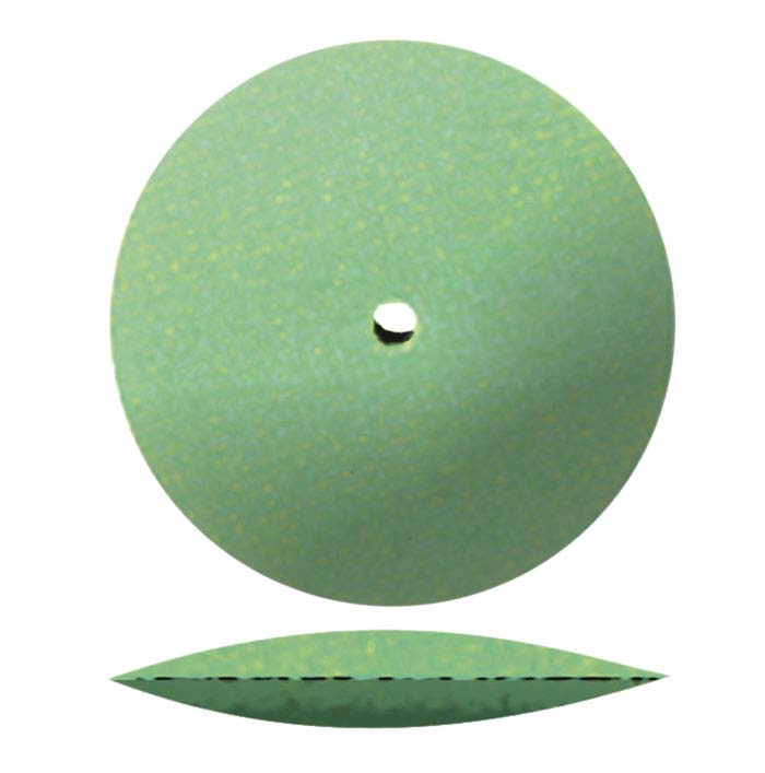 "Dedeco® Sunburst® 7/8"" Knife-Edge Polishing Wheel, 1-Micron, Light Green"
