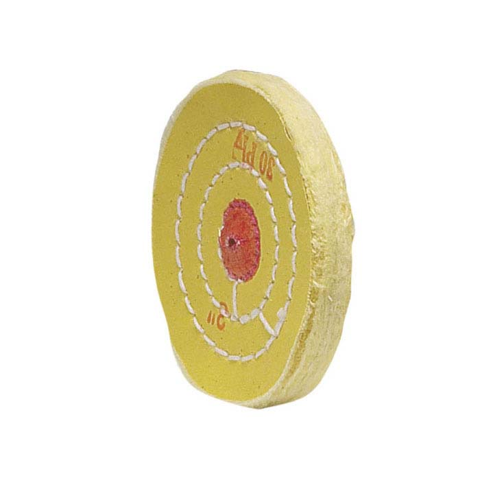 "Yellow-Treated Buffing Wheel, 3"" x 30-Ply"