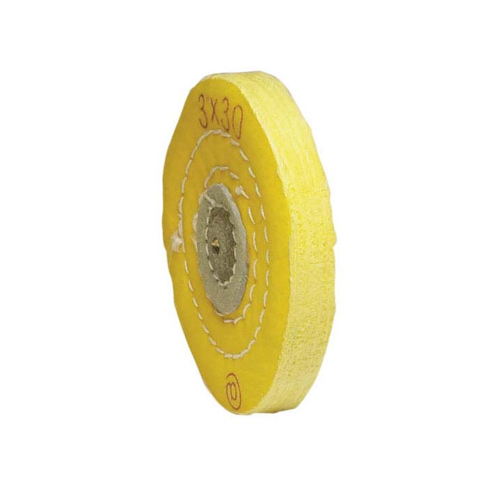 "Value Yellow-Treated Buffing Wheel, 3"" x 30-Ply"