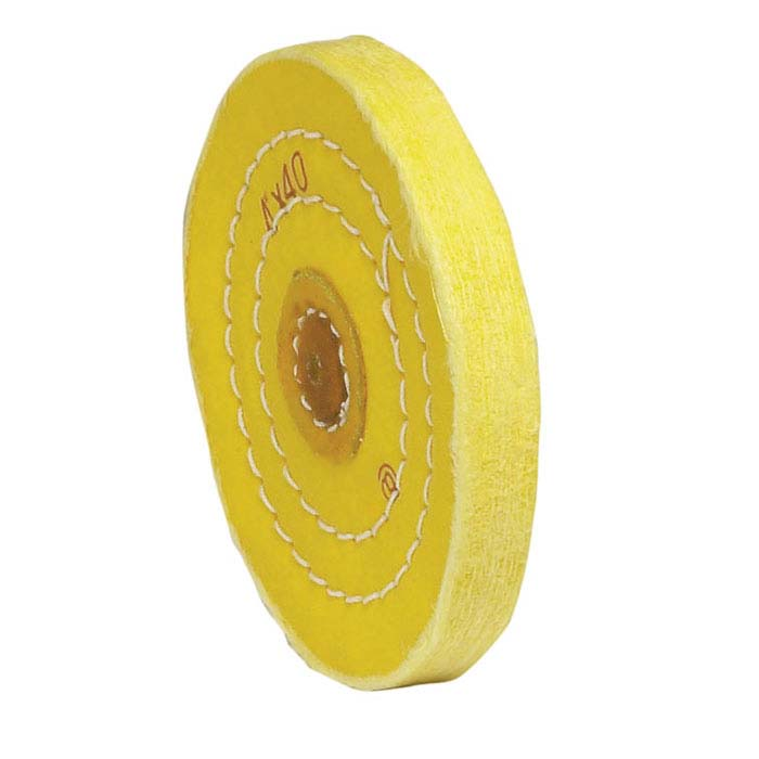"Value Yellow-Treated Buffing Wheel, 4"" x 40-Ply"