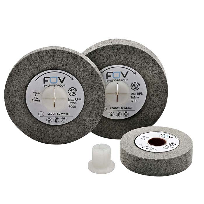 FOV by Legor® Group Deburring Wheels, Gray, Fine