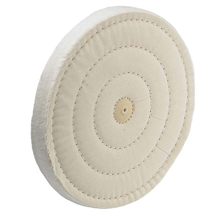 "Loose-Weave Coarse Muslin Buffing Wheel, 8"" x 55-Ply"