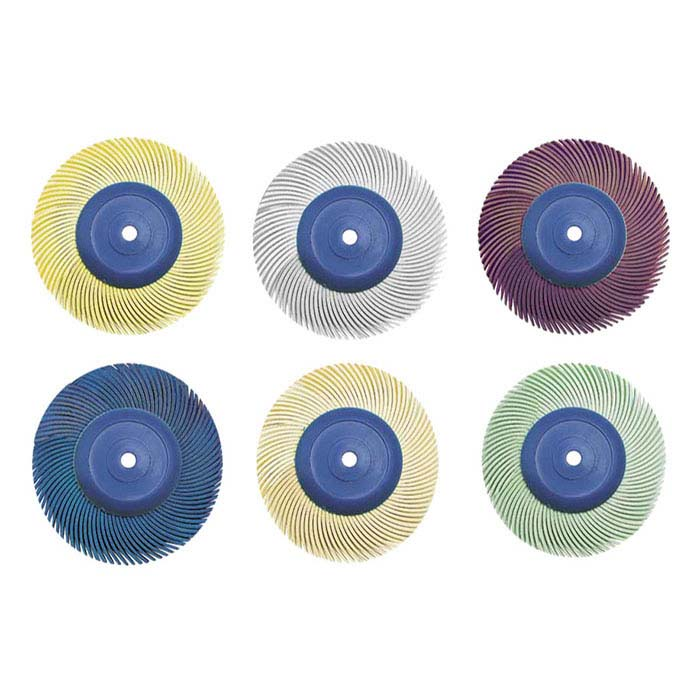 "3M Radial Bristle Assortment, 3"", 6-Ply"