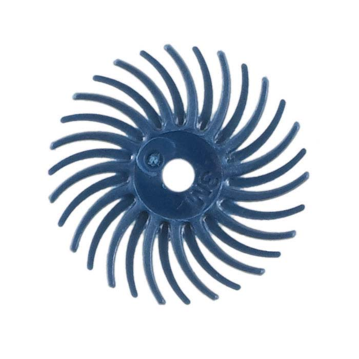 "3M 9/16"" Radial Bristle Disc, 400-Grit, Blue"