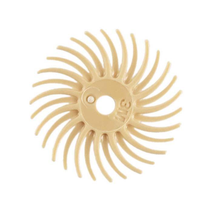 """3M 9/16"""" Radial Bristle Disc, 6-Micron, Peach"""