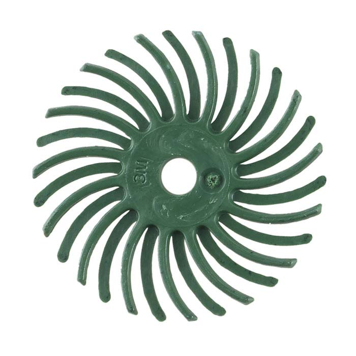 "3M 1"" Radial Bristle Disc, 50-Grit, Green"