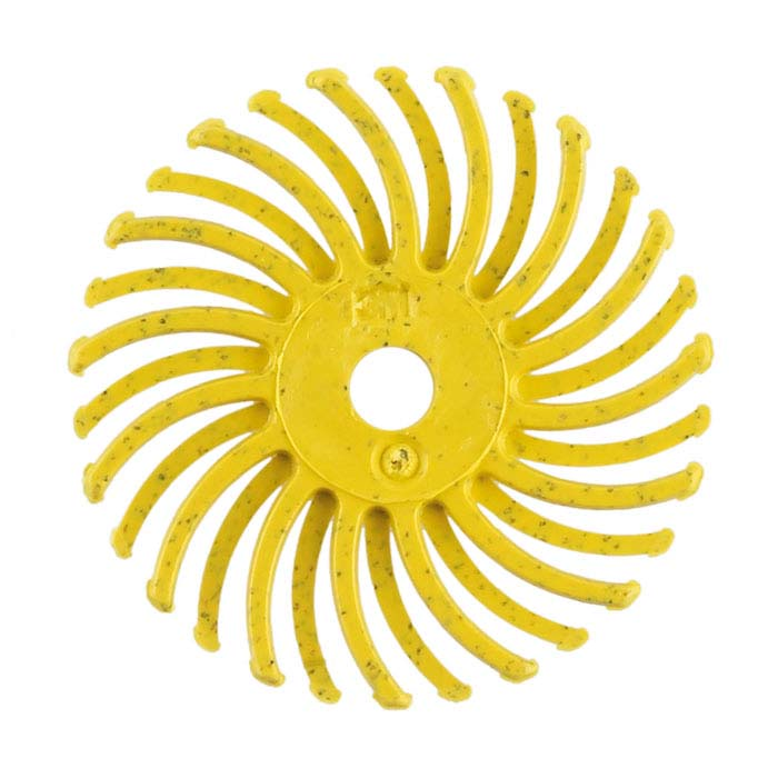 "3M 1"" Radial Bristle Disc, 80-Grit, Yellow"