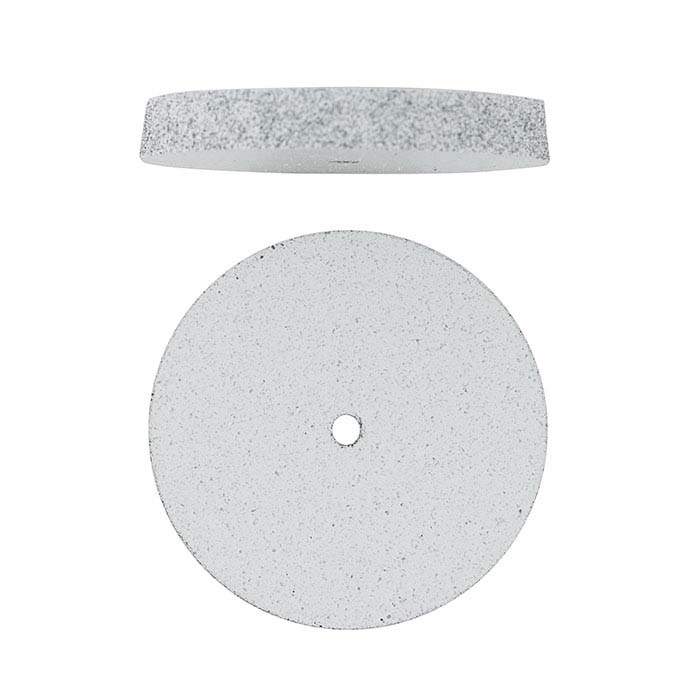 Dedeco Silicone Polishing Wheel, White, Coarse