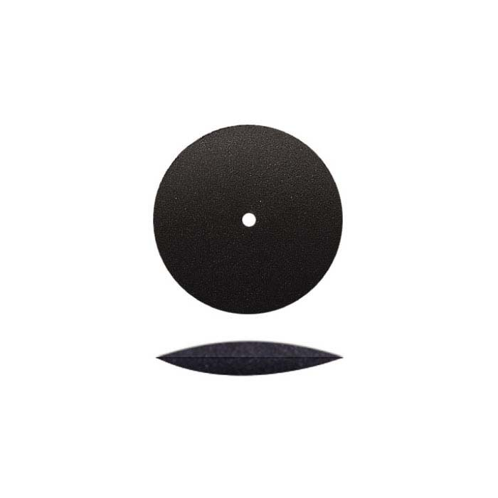 Dedeco Silicone Knife-Edge Polishing Wheel, Black, Medium