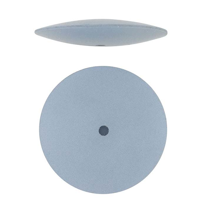 Dedeco Silicone Knife-Edge Polishing Wheel, Blue, Fine