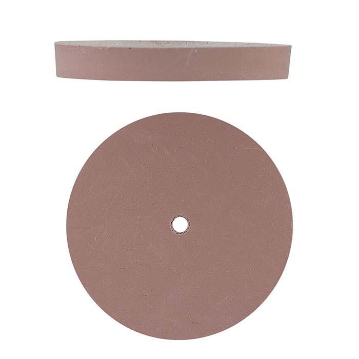 Dedeco Silicone Polishing Wheel, Pink, Extra-Fine