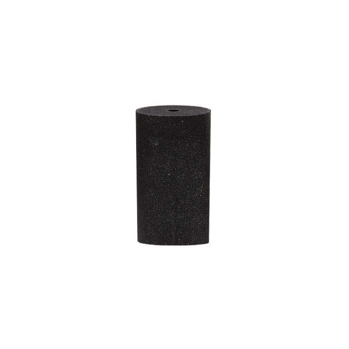 Dedeco Silicone Cylinder Polisher, Black, Medium