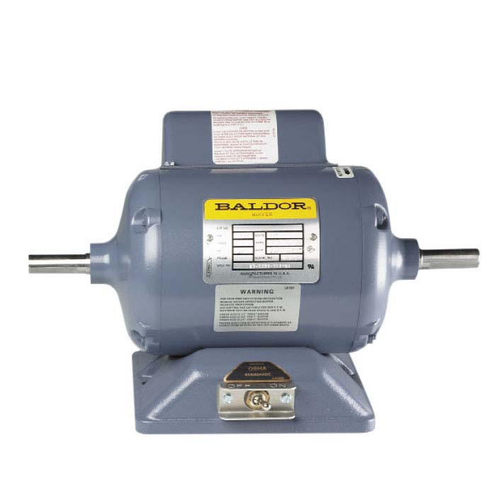 "Baldor Continuous-Duty 5/8"" Straight-Shaft Polishing Motor, 1/2hp"