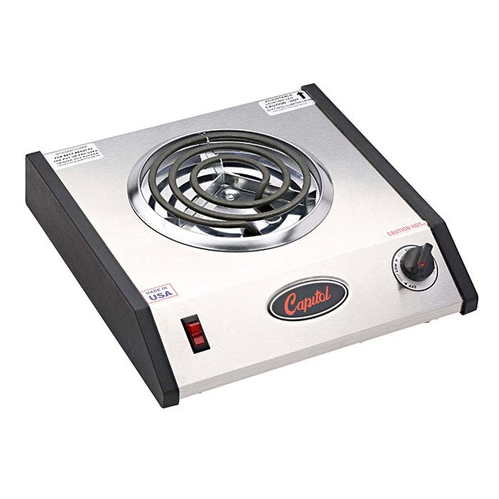 Capitol Commercial Single-Burner Electric Hot Plate