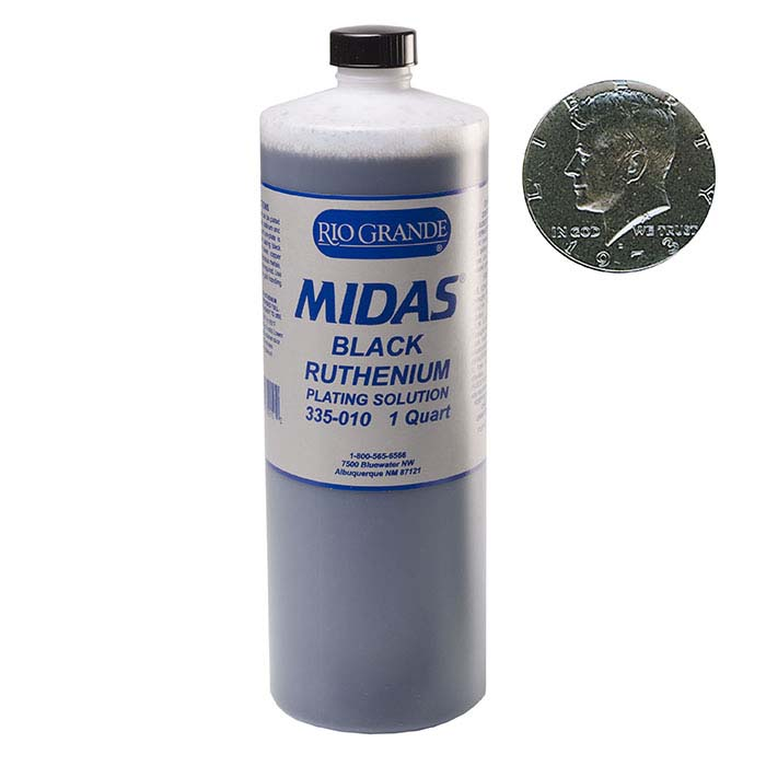 Midas Black Ruthenium Plating Solution