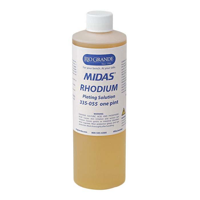 Midas Rhodium Plating Solution, Acid-Based