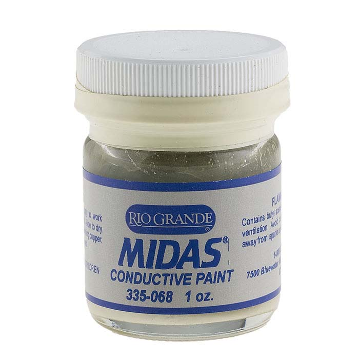 Midas Silver Conductive Paint, 1 oz.