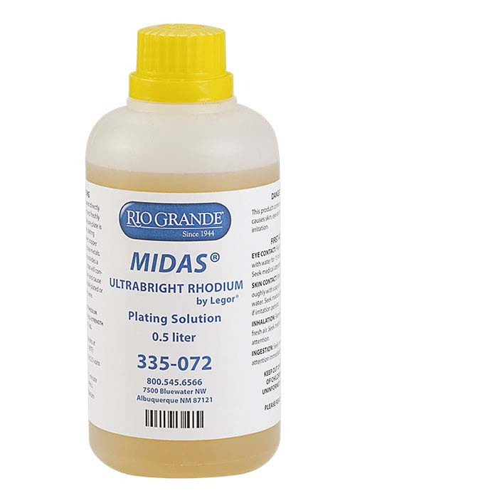 MIDAS® Ultrabright Rhodium Plating Solution, Acid-Based