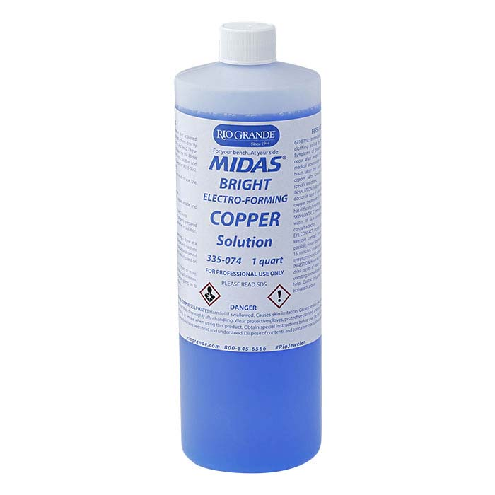 Midas Bright Copper Electroforming Solution